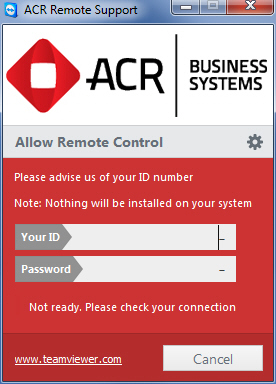 Using Team Viewer – ACR Business Systems